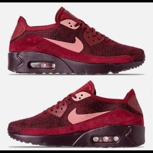 🆕NEW Nike Air Max 90 Ultra 2.0 Flyknit Burgundy